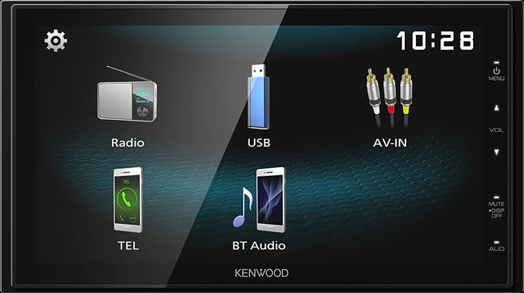 "Kenwood DMX1025BT 6.8"" WVGA Display Bluetooth Multimedia Player"