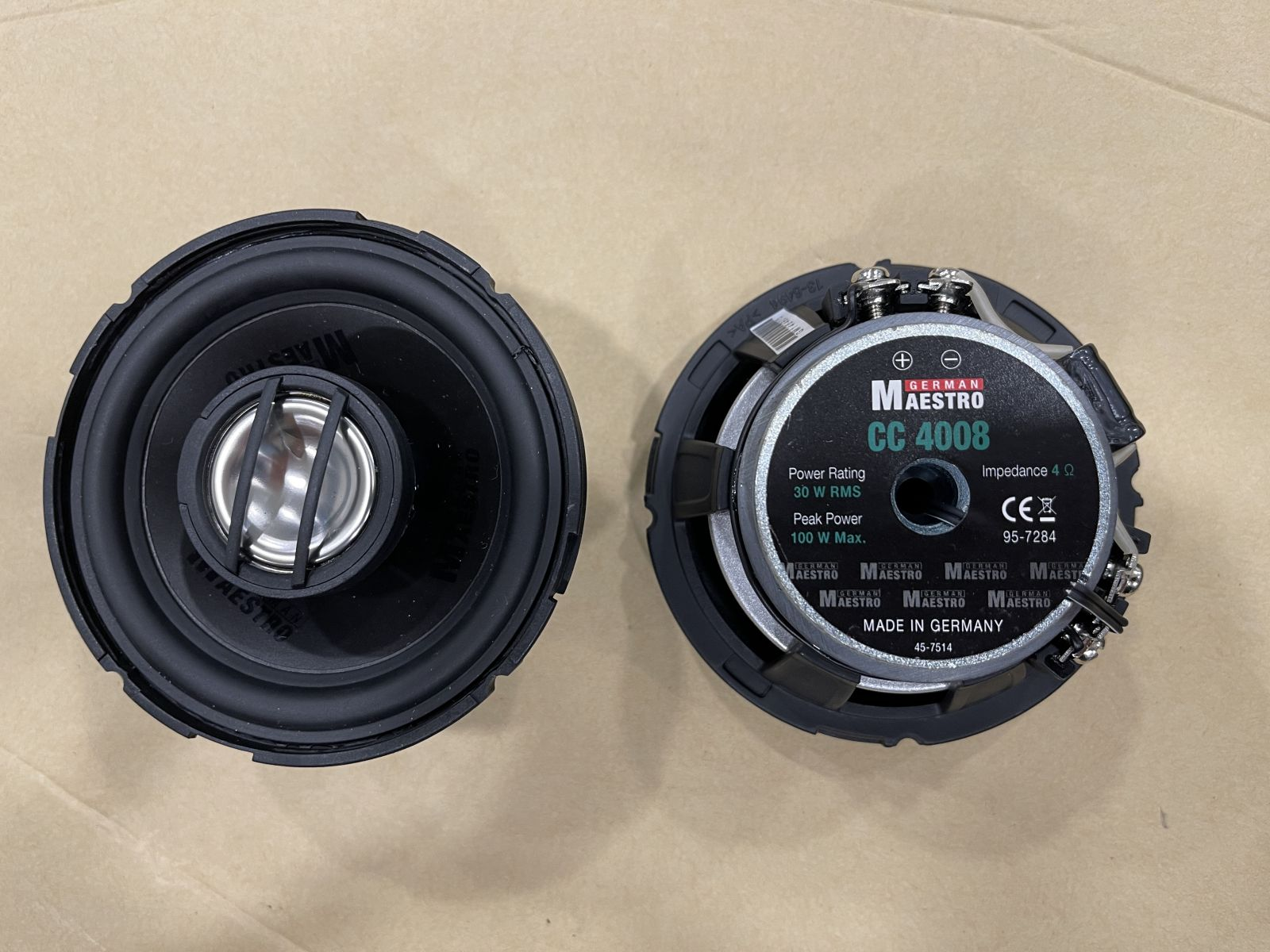 German Maestro CC 4008 2-Way Coaxial Speakers