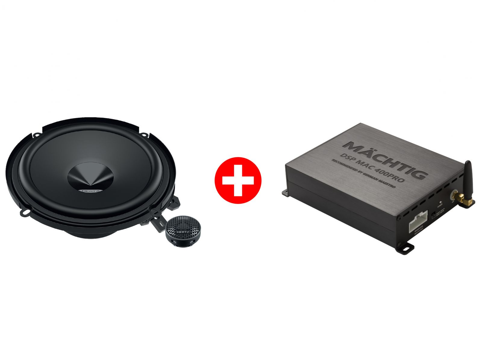 Hertz DSK160.3 2-Way Component Speakers (With Machtig DSP Mac 400Pro Processor)