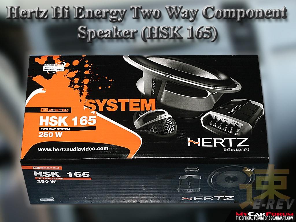 Hertz HSK 165 2 Way Component Speaker System