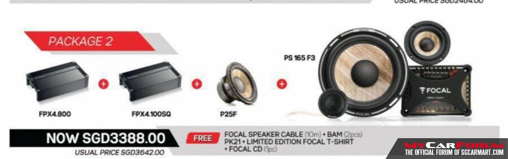 Focal PS 165FX Component Speakers (With Focal PS 165 2-Channel Amplifier And Subwoofer)