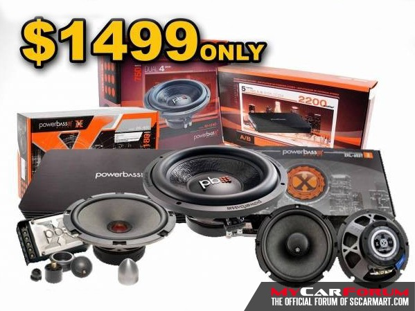 PowerBass 2XL-63C Component Speakers (With PowerBass ASA 1100.5x Multi-channel Amplifier)