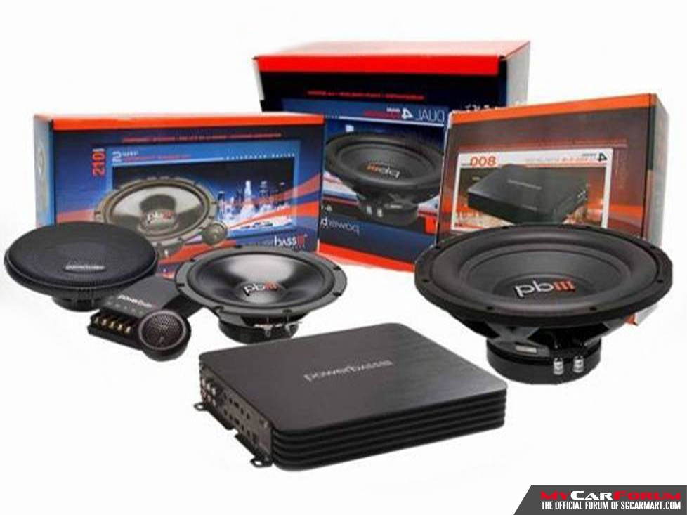 PowerBass S-6C Component Speakers (With PowerBass S-124Dx Woofer)
