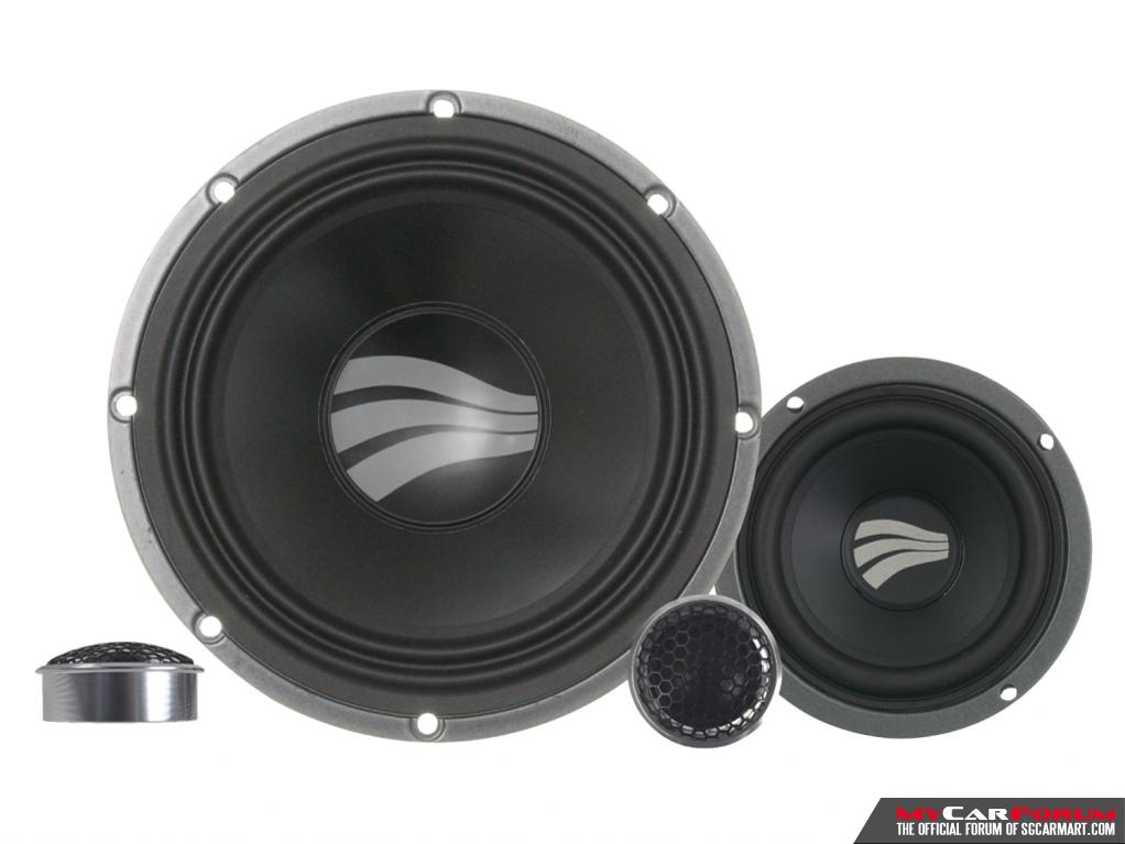 Rainbow SL-C6.3 PRO 3-Way Active 6.5 Component Speakers