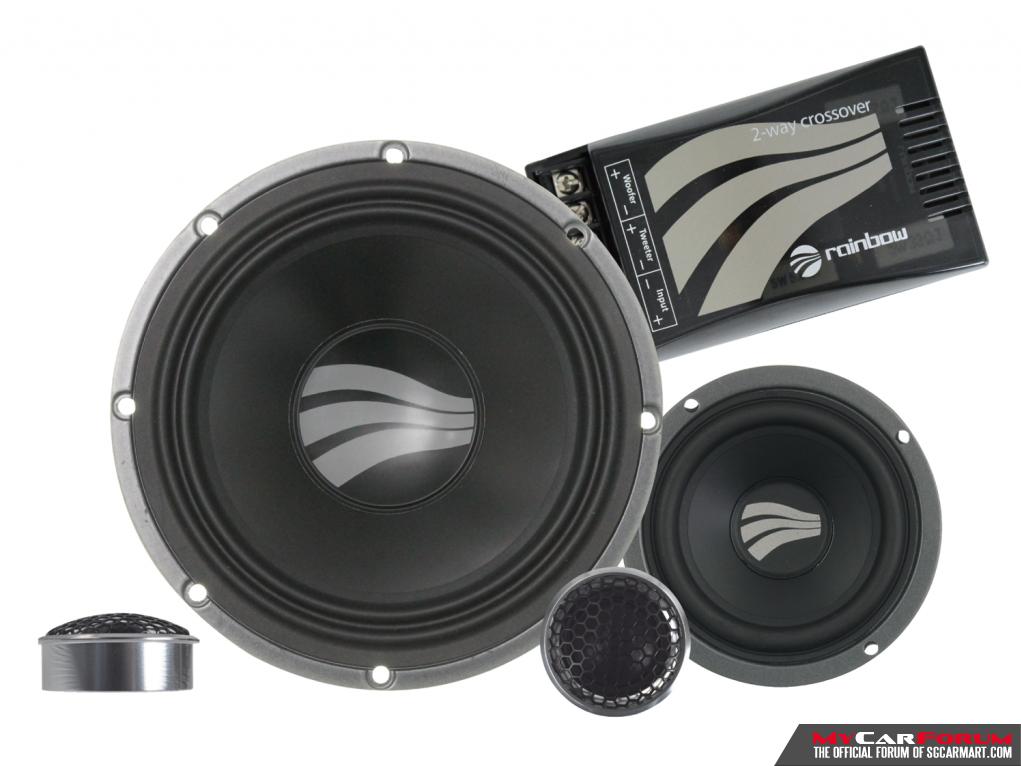 Rainbow SL-C6.3 PRO 3-Way Semi-Active Component Speakers