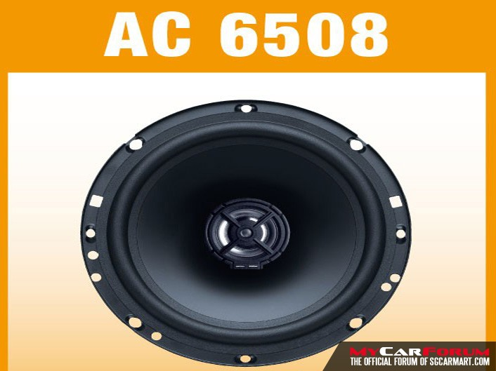 German Maestro AC 6508 Coaxial Speakers
