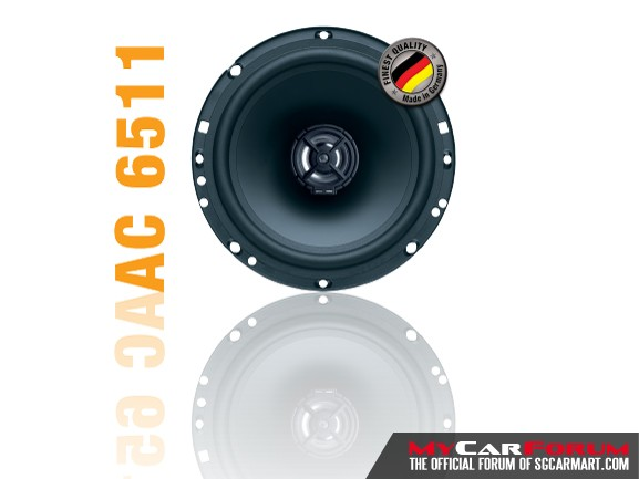 German Maestro ALPHA AC6511 2-way Coaxial Speakers