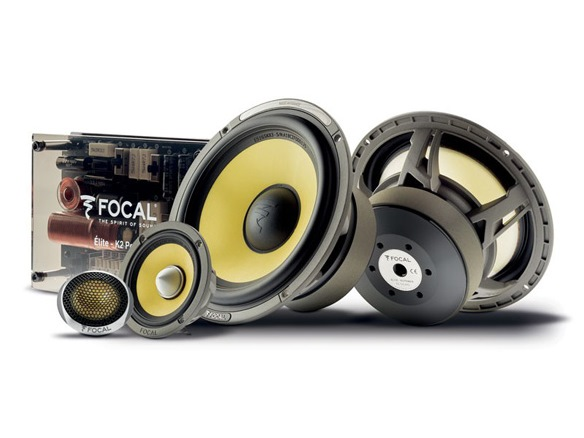 Focal ES 165KX3 Component Speakers (With 2-Channel Amplifier And IBUS20)