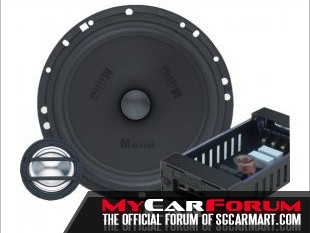 German Maestro CS 6508 2 Way Component Speakers