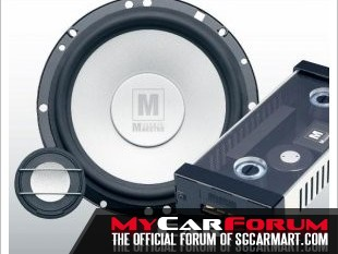 German Maestro MS 6508 2 Way Component Speakers With Inverted Titanium Dome