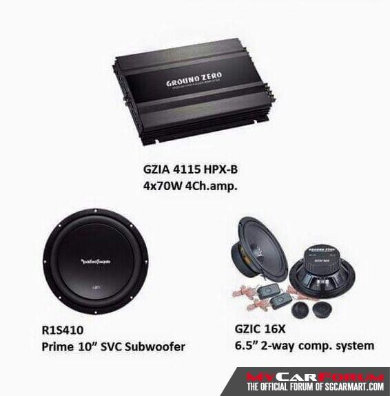Ground Zero  Multi-channel Amplifier (With Rockford Fosgate R1S410 Woofer)