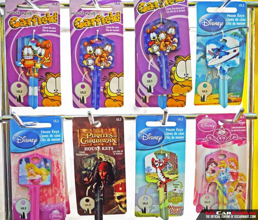 Disney & Garfield Design House Keys